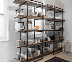 Free standing shelves in kitchen Kitchen Appliance Storage Small Kitchen Organization Small Kitchen Appliances & 69 Best Free Standing Shelves images | Shelving brackets Armoire ...