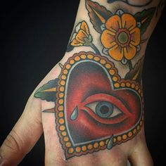 Crying Heart Hand tattoo by @jacobredmond who splits his time between @atlastattoo in Portland Oregon and @heartcitytattoo in Coeur d'Alene Idaho #jacobredmond #atlastattoo #portland #oregon #heartcitytattoo #cda #coeurdalene #idaho #handtattoo #hearttattoo #allseeingeyetattoo #tattoo #tattoos #tattoosnob