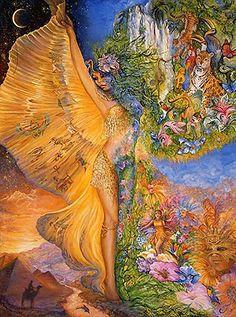 """""""Goddess Between Realms 2"""" par Josephine Wall"""