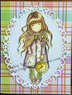 Gorjuss Girl Stamp : The White Rabbit