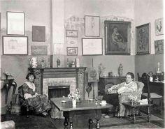 Gertrude Stein and Alice B. Toklas in their legendary Paris salon.