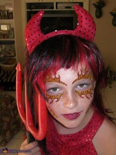 devil face paint | halloween | Pinterest | Devil, Face and ...