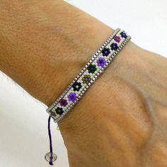 Items similar to Wrap bracelet – Beadwoven bracelet – Delica beads bracelet – Beaded bracelet – Needle lace bracelet on Etsy - DIY Schmuck Loom Bracelet Patterns, Bead Loom Bracelets, Beaded Jewelry Patterns, Woven Bracelets, Ankle Bracelets, Lace Bracelet, Hippie Bracelets, Ankle Chain, Bracelets