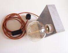 Concrete lamp BLock M by Blockmono on Etsy