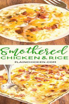 Chicken Soup Recipes, Cream Of Chicken Soup, Turkey Recipes, Dinner Recipes, Recipe Chicken, Chicken Rice, Restaurant Recipes, Baked Chicken, Chicken Tenderloin Recipes