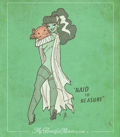 'Maid to Measure ' -The Bride Monster Pinup girl by MyBeautifulMonsters on @DeviantArt