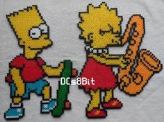 Bart - 12.5 x 8 Lisa - 12.5 x 10.5 Marge - 12.5 x 8 Homer - 12 x 5 Available individually, please message for pricing Made to order.