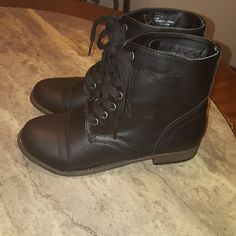 Rampage black combat boots Brand new never worn black man-made combat boots. Rampage Shoes Combat & Moto Boots