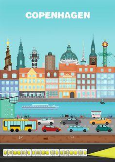 Copenhagen poster on Behance