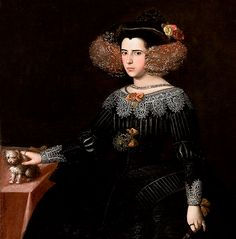 Luisa Maria Francisca de Guzmán y Sandoval (1613-1666),Queen Consort of Portugal by her marriage to John,Duke of Braganza (later, King John IV of Portugal).between 1630 and 1635.