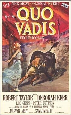 Paramount Pictures Movie Posters 1951 | QUO VADIS POSTER ]