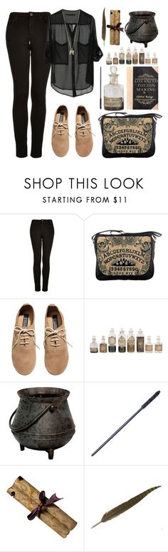 """""""Classes #7 Potions"""" by leah1992 ❤ liked on Polyvore featuring Topshop, H&M, hogwarts, magic and potions"""