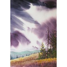 Watercolor of the Smoky Mountains