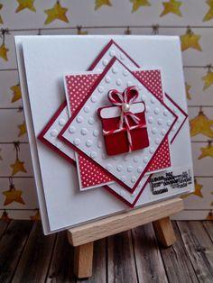 Guardiana de momentos: Tarjeta de Navidad en blanco y rojo
