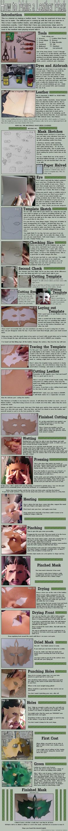 How to make a leather mask... for future Halloween project or just because it's fun to be someone else for a little while...