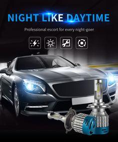 Pair NAO 527D DC12V 60W 6500K 4000LM Car LED Headlights H1 H3 H4 H7 H11 H13 9005 9006 Sale - Banggood.com
