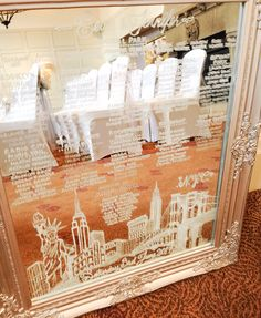Mirror table Plan hand drawn New York skyline theme weddings Mirror Table Plan, Wedding Table, Wedding Ideas, Table Plans, Hand Drawn, How To Draw Hands, Skyline, York, Weddings