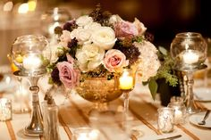 Purples are pretty Elegant Ballroom Wedding from Heather Parker Photography Floral Centerpieces, Wedding Centerpieces, Wedding Table, Flower Arrangements, Wedding Day, Centrepieces, April Wedding, Wedding Tips, Wedding Stuff