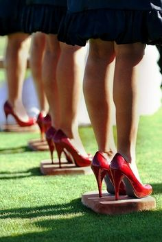 Are you considering an outdoor ceremony? Have decorative stepping stones included at the ceremony site for your bridal party to stand on... and save their beautiful heels!
