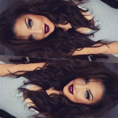 "✌ Hola hunny bunnies Hair Extensions #2 Dark chocolate 300grs 20"" from @myfantasyhair #auroramakeup #selfie"