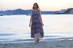 Colorful maxi dress at Mallorca