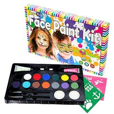 """MARKET LEADING #FACE #PAINT Bo Buggles' Face Paint Kit for Kids is the market leading face paint kit for children ages 3+. You only want the best for your """"littl..."""