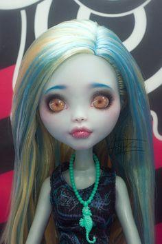 Lagoona Blue Monster High repaint  Monster High custom  by CreativeMending