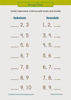 """belajar anak PAUD (TK/SD kelas 1) : konsep dasar tentang """"sesudah"""" dan """"sebelum""""…"""
