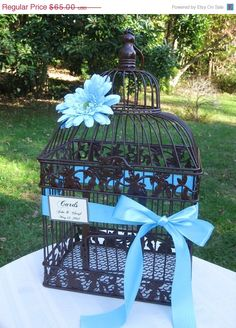 On Sale Wedding Card Box / Brown Birdcage / by SouthburyTreasures, $61.75