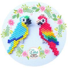 Bead Loom Patterns, Beaded Jewelry Patterns, Peyote Patterns, Beading Patterns, Origami Diagrams, Bracelet Crafts, Loom Beading, Bead Crafts, Beaded Flowers