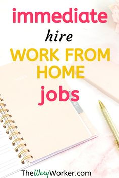 """If you're looking for an """"immediate hire"""" work from home job you'll find some here. You'll discover online jobs you can start NOW - as in immediately. Work From Home Careers, Work From Home Companies, Legitimate Work From Home, Work From Home Opportunities, Make Money From Home, How To Make Money, Job Work, Making Extra Cash, Money Talks"""
