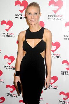 Now this is how a woman wear a cut out dress with class. Hats off to Ms. Paltrow! Very nice. The hair is sleek and her skin is luminescent.