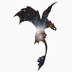 Toothless Silhouette - Galaxy Print