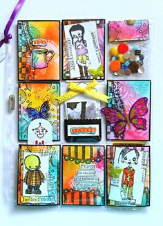 A #mixedmedia #PocketLetter that I received in a swap from Anne May in Norway. #pocketletterpals #snailmail #ArtandWhimsy