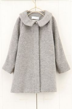 tweedy coat - nikoand グレー