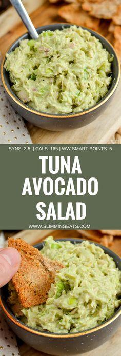 Slimming Eats Tuna Avocado Salad - gluten free, Slimming World and Weight Watchers friendly
