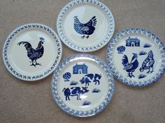 emma bridgewater beaches and stripes 2007 Blue And White China, Love Blue, Dresser Inspiration, Country Blue, Country French, Emma Bridgewater Pottery, My Emma, Rooster Decor, Love You Dad