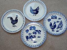 Emma Bridgewater Blue Hens cake plate collection