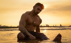 #beach #photography #sunset #lighting #fitness #malemodel Beach Photography, Portrait Photography, Male Models, Photo And Video, Superhero, Sunset, Lighting, Fitness, Fictional Characters