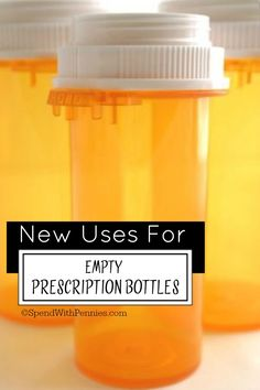 15 Great ways to Reuse Empty Prescription Bottles! - Spend With Pennies Empty Medicine Bottles, Reuse Pill Bottles, Medicine Bottle Crafts, Pill Bottle Crafts, Empty Bottles, Recycled Bottles, Bottles And Jars, Plastic Bottles, Bottle Candles
