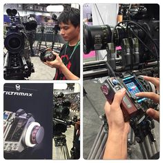 The TILTAMAXX wireless follow focus out on display at our booth for NAB!