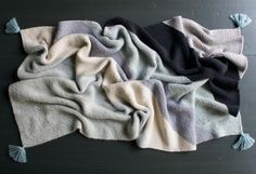 FREE KNITTING PATTERN BIAS BLANKET (can also buy different colored yarn kits from Purl Soho):  Rectangular Colorblock Bias Blanket | The Purl Bee