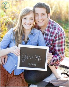 save the date ideas, engagement photo ideas, chalk board engagement, chalk board save the date Elizabeth and Scott ...Engaged - Mindy's Photography Blog - Wedding Photographer