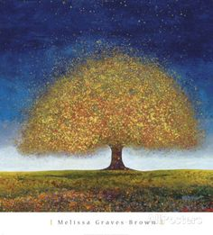Dreaming Tree Blue Poster by Melissa Graves-Brown at AllPosters.com