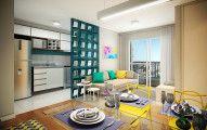 Apartamento Decorado Pequeno de 46m ², Confira aqui Dicas com fotos e videos de um decorado completo planejado com sala,quarto,cozinha,banheiro e varanda.