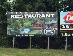 Wood's Riverbend Restaurant is so beautiful they use a picture of it to advertise.