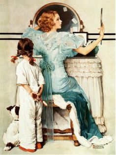 """Going Out"" - by Norman Rockwell"