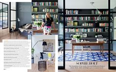 Sophie Holt's home (via Belle Magazine au) Exterior Design, Interior And Exterior, Belle Magazine, Study Nook, Melbourne House, Home Libraries, Home Office, Bookcase, Sweet Home
