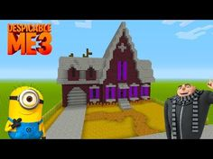 "Minecraft Tutorial: How To Make Grus House From Despicable Me ""Despicable me Disney Minecraft, Minecraft Houses Xbox, Minecraft Mansion, Minecraft House Tutorials, Minecraft Plans, Minecraft City, Minecraft House Designs, Minecraft Construction, Minecraft Tutorial"