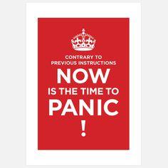 eu.Fab.com   Druck Panic Poster Rot